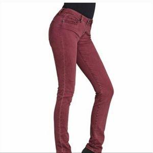 CAbi skinny maroon jeans